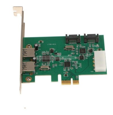 Адаптер PCI-E to USB3.0 (2ext.) 2xSATA III