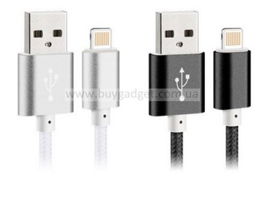 USB2.0 кабель Kming для iPhone 5/6/iPad 4, 0.4mm/2.1A, RTL