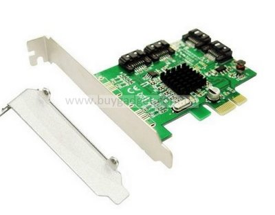 Адаптер PCI-E to 4x SATA III int., Marvell 88SE9215, Low Profil, RTL