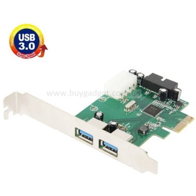Адаптер PCI-E to USB3.0 (2ext. 19pin. Molex) VIA, RTL
