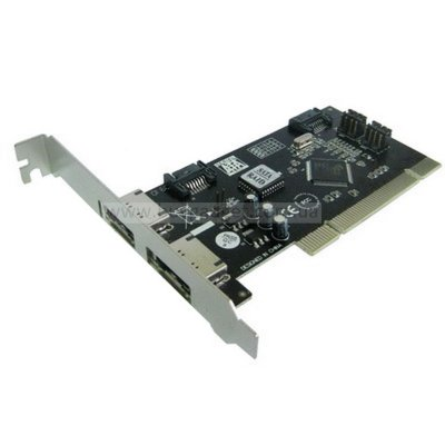 Адаптер PCI to 2x eSATA, 2x SATA int., Silicon Image, RTL