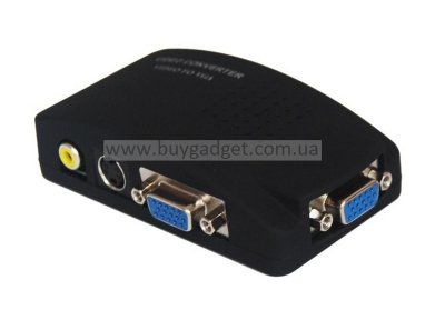 Видео конвертер VGA/RCA/4-pin S-Video to VGA