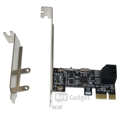 Адаптер PCI-E to 2x SATA III int., ASM1061, RTL