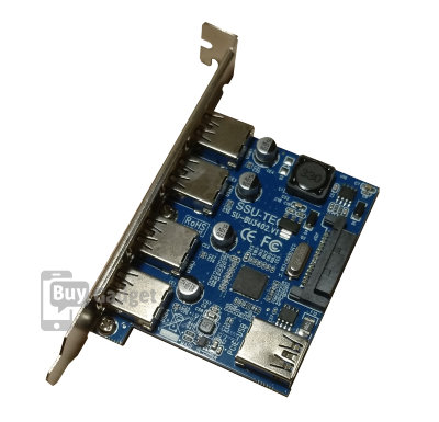 Адаптер PCI-E to USB3.0 (4ext. Sata Power) NEC, RTL