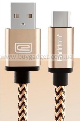 Кабель USB2.0 to USB3.1 Type-C AM/CM, в оплетке, RTL