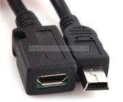 Адаптер mini USB2.0 M to micro USB2.0 F