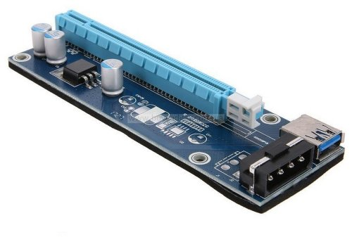 Riser Card PCI-E 1X to 16X, v.006, USB3.0 кабель