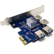 PCI-E 1x to 4 Port USB 3.0, Hub Riser Card