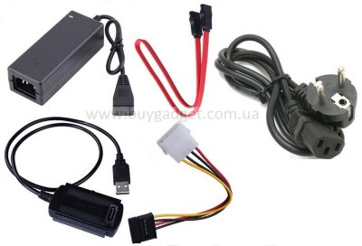 "Адаптер USB2.0 AM to IDE, SATA (2.5"", 3.5"") с БП, RTL"