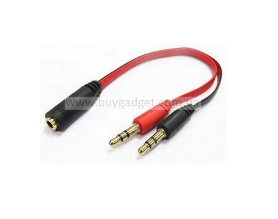 Адаптер 4pin Audio 3.5 мм (F) to 2x3.5 мм (M) stereo