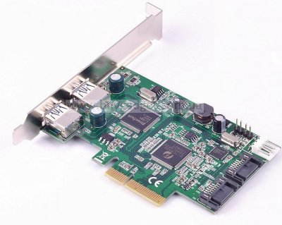 Адаптер PCI-E 4x to USB3.0 (2ext.) 2xSATA III